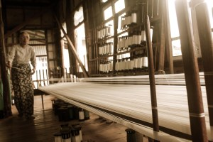 The weaving factory, Burma