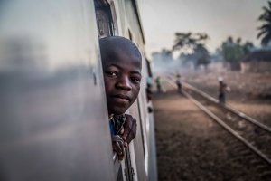 Boy on Nampula to Cuamba train, Mozambique