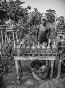 Petrol for sale on the side of the road, Uganda